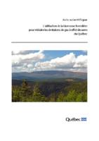 Avis scientifique – L'utilisation de la biomasse forestière pour réduire les émissions de gaz à effet de serre du Québec (2012)