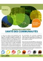 Fiche – Biomasse forestière et climat : santé des communautés (2014)