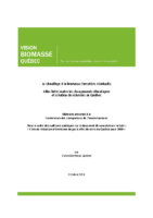 Mémoire – Le chauffage à la biomasse forestière résiduelle : Allier lutte contre les changements climatiques et création de richesses au Québec (octobre 2015)